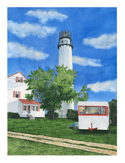 Lighthouse painting art