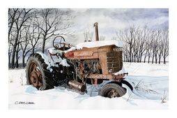 Farmall tractor painting