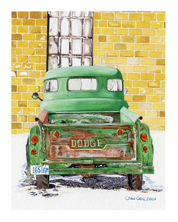 Old Dodge Truck art painting